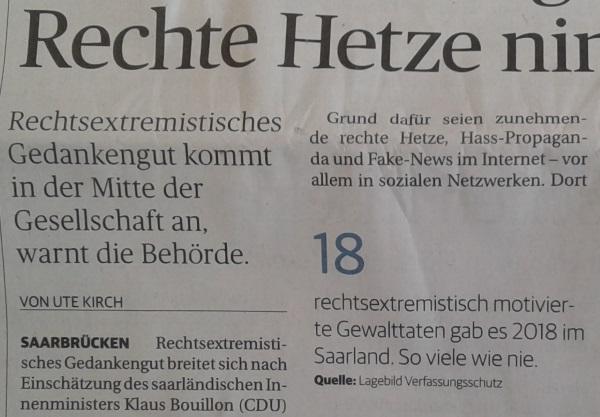rechte hetze - Tag der offenen Türen - Politische Justiz on tour in St. Wendel