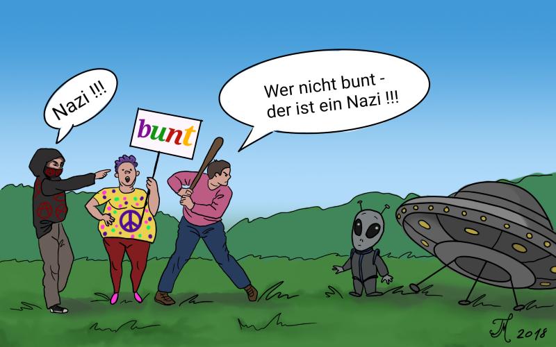 cm bunt nazi 1 - Wer nicht hüpft ... der politische Sumpf in St. Wendel und im Saarland