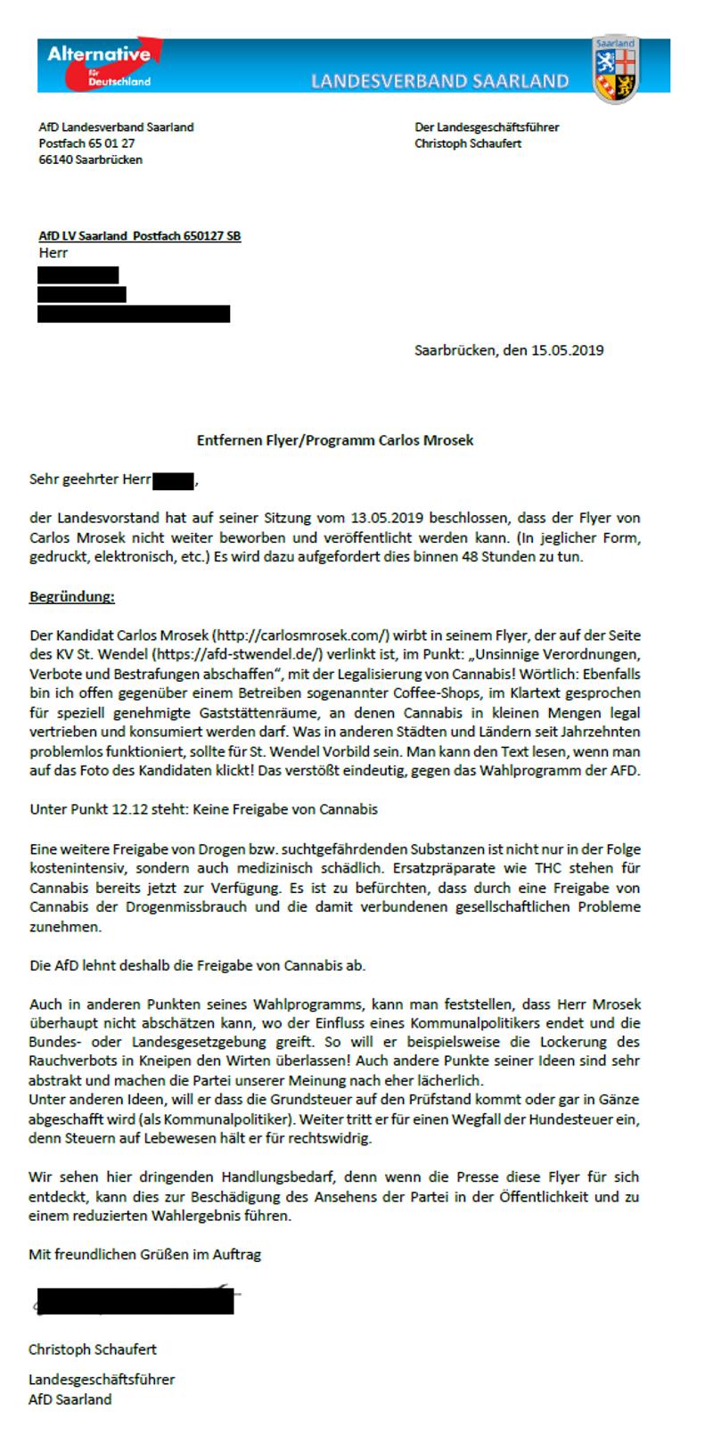 """afd lavo saar 2019 - AfD Bundesvorstand erklärt """"System Dörr"""" für """"Demokratie-tauglich"""" - echt jetzt?"""