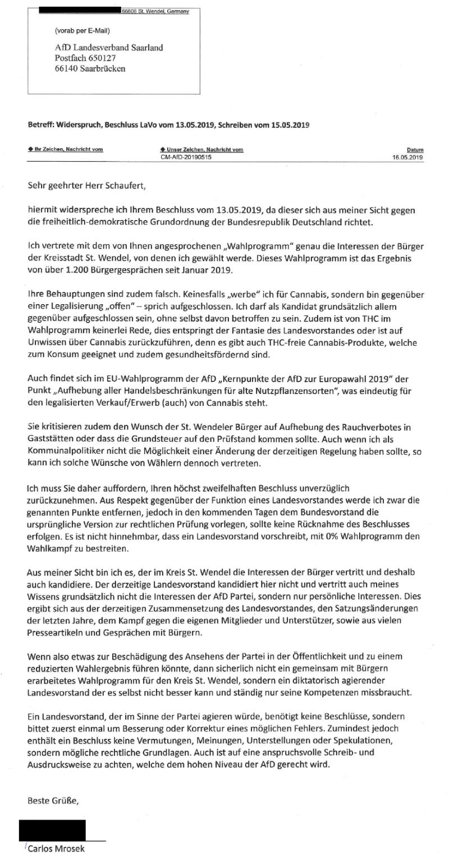"""afd lavo saar widerspruch 2019 - AfD Bundesvorstand erklärt """"System Dörr"""" für """"Demokratie-tauglich"""" - echt jetzt?"""