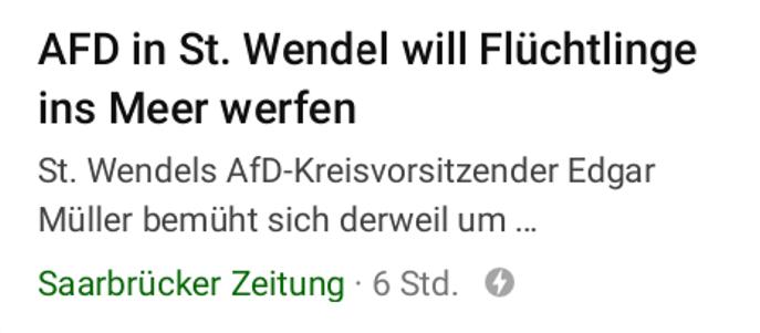 """carlosmrosek.com Saarbrücker Zeitung FakeNews Fluechtlinge AfD 20190715 - Hitler kaputt - oder: Der Junge der """"Nazi"""" schrie"""