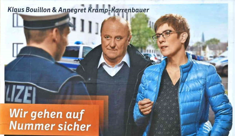 carlosmrosek.com cdu wahlplakat polizei saarland - Saarländische Hassjäger und Selbstjustizminister - Fuck yourself with your fucking hate-speech!