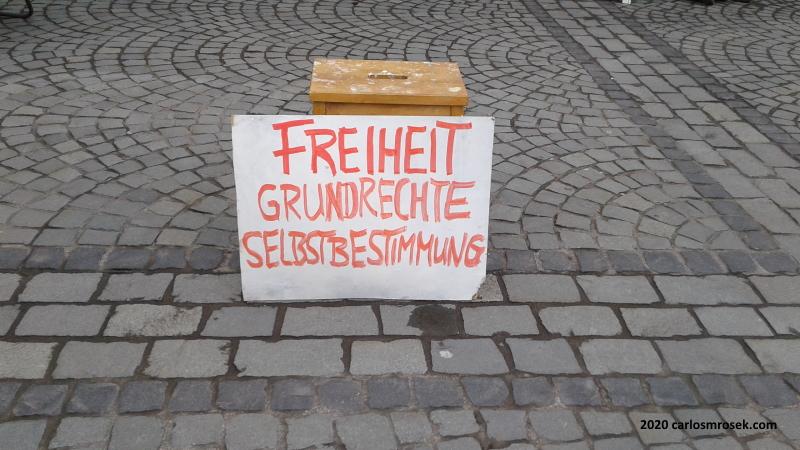 carlosmrosek.com freiheit grundrechte selbstbestimmung 2020 - Historische Demokratie-Demo in St. Wendel
