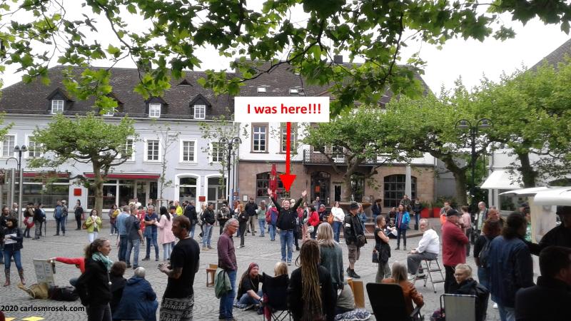 carlosmrosek.com schlossplatz stwendel demokratiedemo 2020 1 - Historische Demokratie-Demo in St. Wendel
