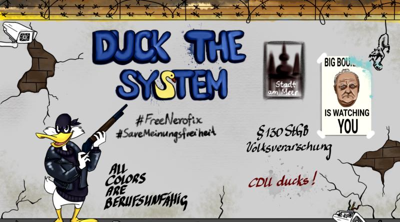 carlosmrosek.com cdu duckthesystem big boullion 800x445 - Saarländische Polizei jagt unbekannten Graffiti Künstler aus St. Wendel