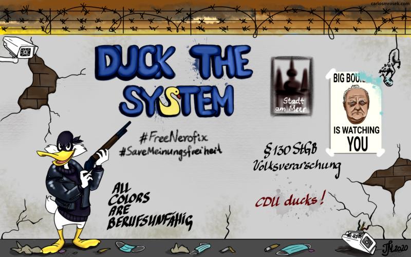 carlosmrosek.com cdu duckthesystem big boullion - Saarländische Polizei jagt unbekannten Graffiti Künstler aus St. Wendel