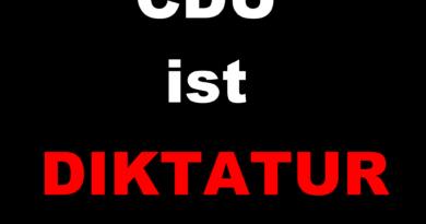 CDU ist Diktatur 390x205 - Offener Brief - Kampf gegen den CDU Faschismus - Demokratie jetzt