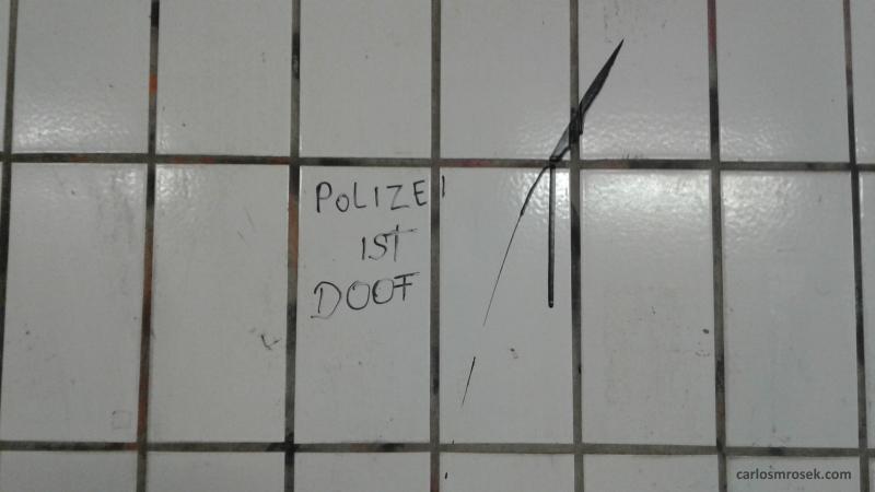 carlosmrosek.com stwendel polizeiistdoof - Saarländische Polizei jagt unbekannten Graffiti Künstler aus St. Wendel