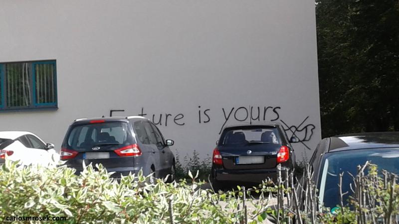 carlosmrosek.com stwendel thefutureisyours - Saarländische Polizei jagt unbekannten Graffiti Künstler aus St. Wendel