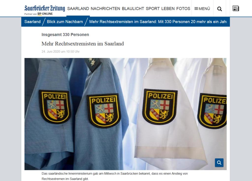 sz rechtsextremisten polizei 1024x734 - Saarländische Polizei jagt unbekannten Graffiti Künstler aus St. Wendel